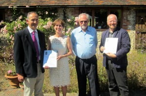 Robert Cheesman with winners of SDS Special Commendations at Sussex Heritage Lunch, Pangdean 3 July 2014